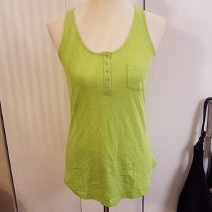 NWOT Lime Green Cotton Sleeveless Tank Top